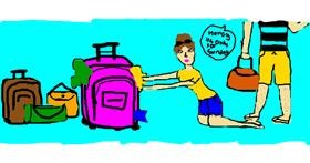 Suitcase drawing by christine