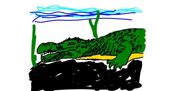 Alligator drawing by bblue
