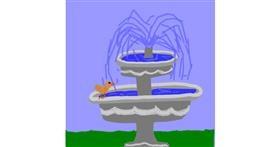 Fountain drawing by MaRi