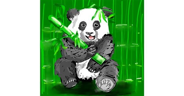 Bamboo drawing by Rose