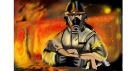 Firefighter drawing by RadiouChka