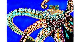 Octopus drawing by GJP