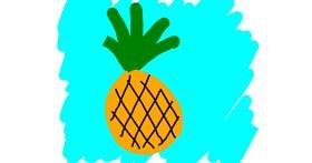 Pineapple drawing by Kamie