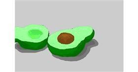 Avocado drawing by 7y3e1l1l0o§