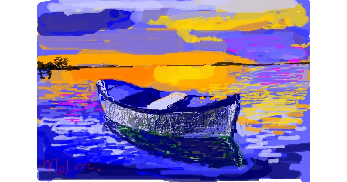 Boat drawing by MooMel