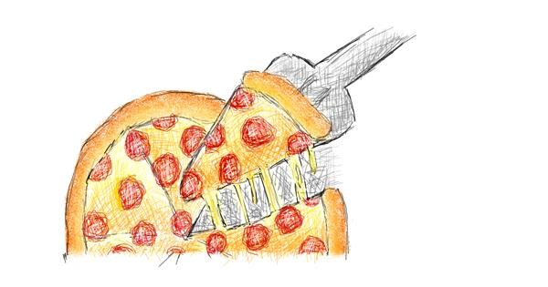 Pizza drawing by coconut