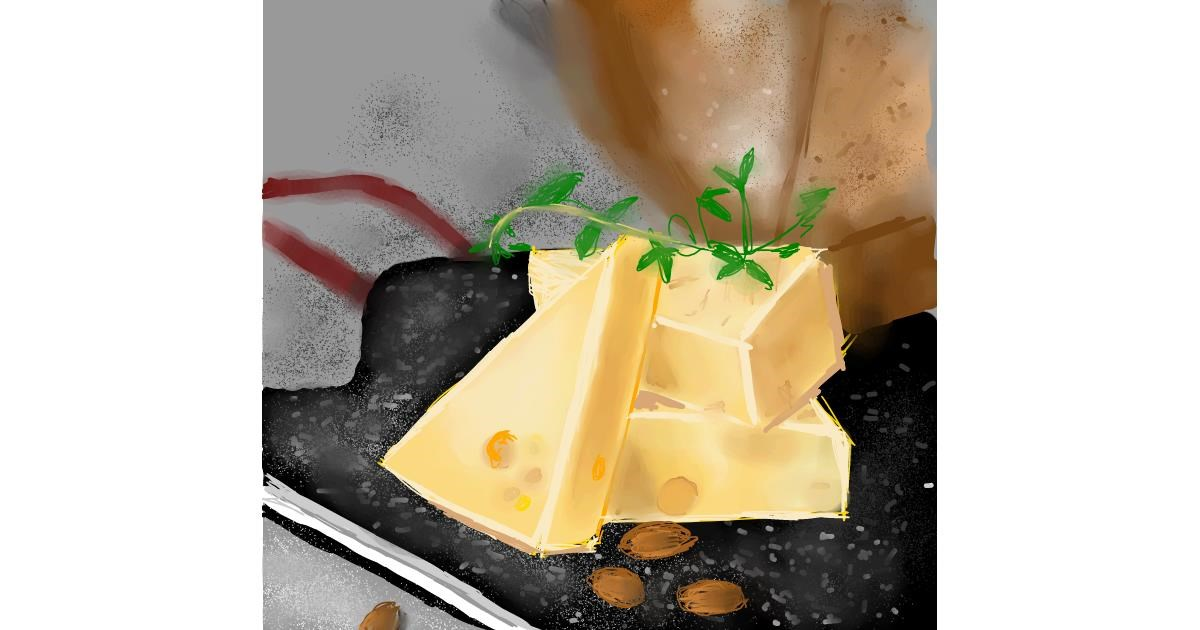 Drawing of Cheese by Claria