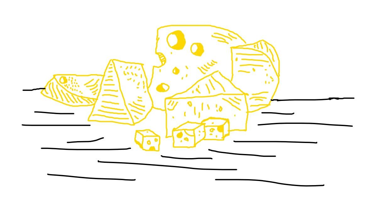 Drawing of Cheese by tiny=)