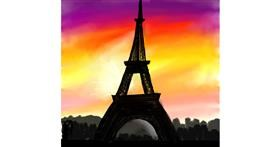 Eiffel Tower drawing by Lyv
