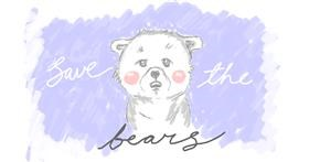 Bear drawing by potter