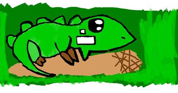 Lizard drawing by Samatha