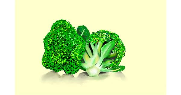 Broccoli drawing by GJP
