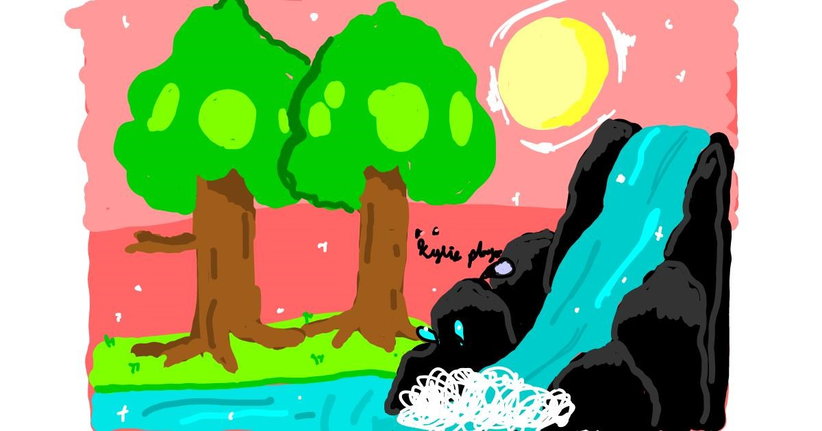 Waterfall drawing by 🍩Kylieplays🍨