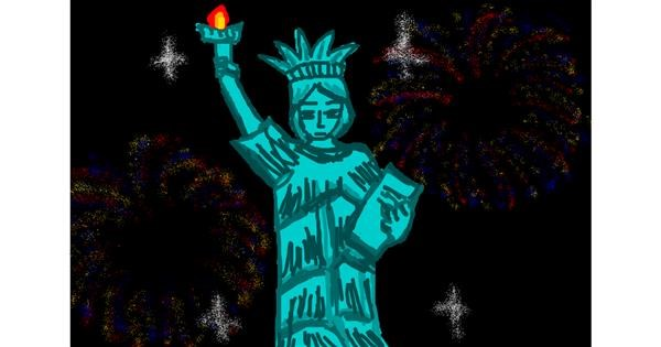 Statue of Liberty drawing by Ingrid