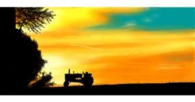 Tractor drawing by Pinky