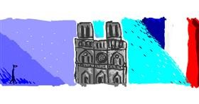 Notre Dame drawing by 7y3e1l1l0o§