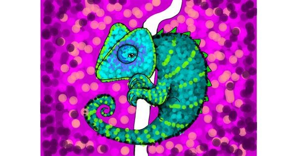 Chameleon drawing by Darta