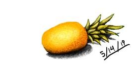 Pineapple drawing by I am Period