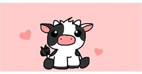 Drawing of Cow by Bella