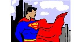 Superman drawing by Bella