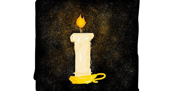 Candle drawing by Rebecca