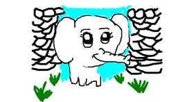 Elephant drawing by MPK