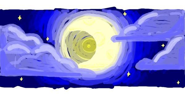 Moon drawing by uwu
