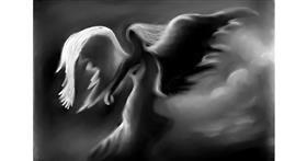 Angel drawing by Jan