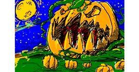 Drawing of Pumpkin by Shon