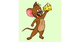 Drawing of Jerry (Tom & Jerry) by Lou