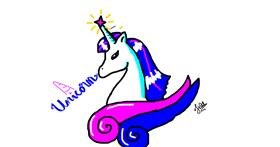 Unicorn drawing by Scribbler
