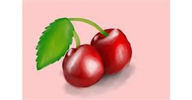 Cherry drawing by ANGEL