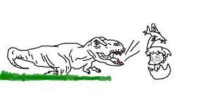 Dinosaur drawing by Stacia🍟🍔🍩
