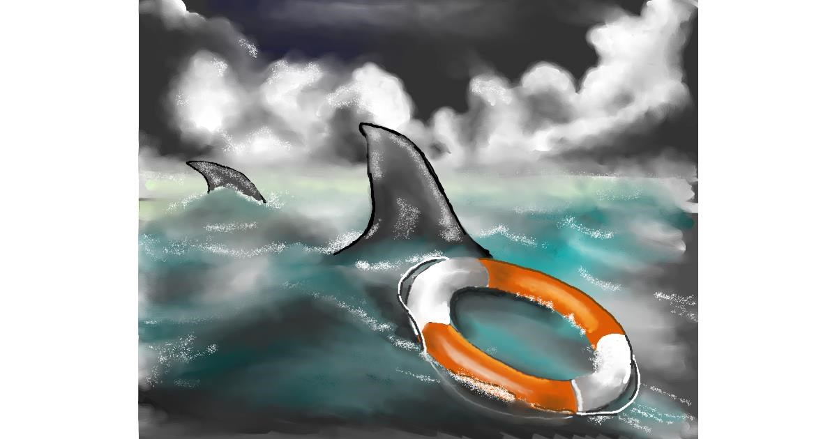 Shark drawing by Cec
