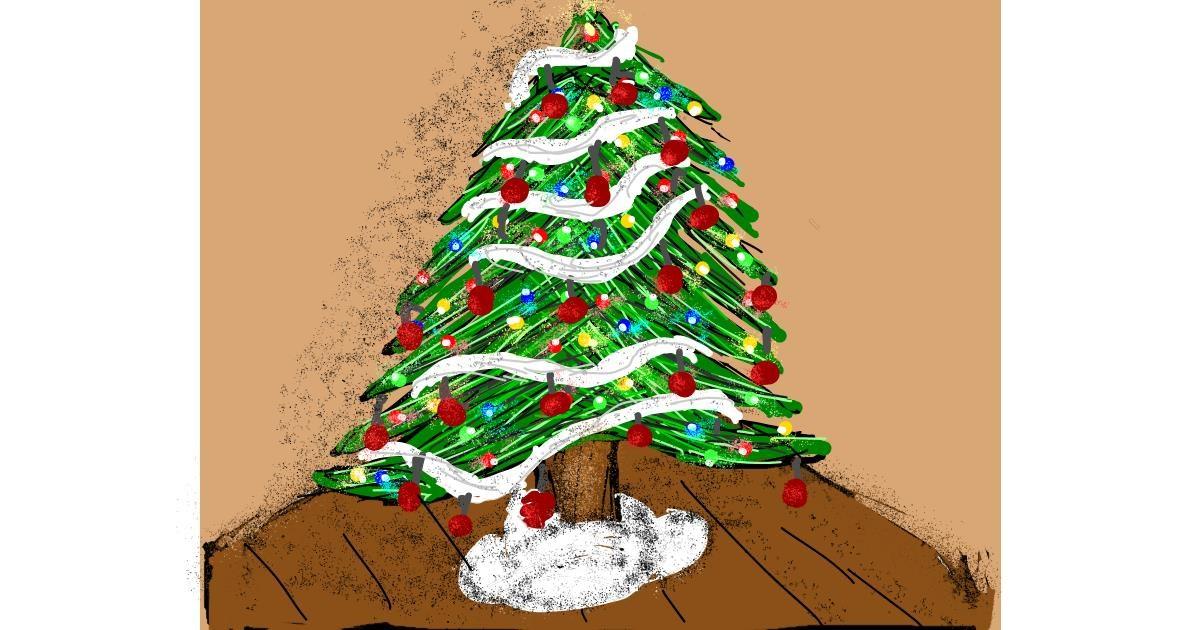 Christmas tree drawing by Nonuvyrbiznis