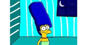 Drawing of Marge Simpson by Lili