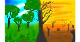 Drawing of Tree by Arzoo