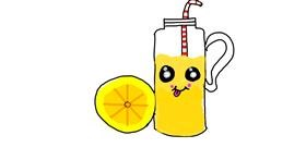 Lemon drawing by Gabi