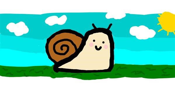 Snail drawing by Alison