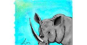 Rhino drawing by Nonuvyrbiznis