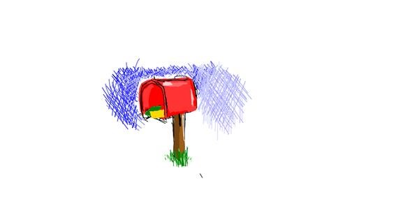 Mailbox drawing by lola