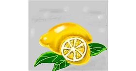 Lemon drawing by Dream