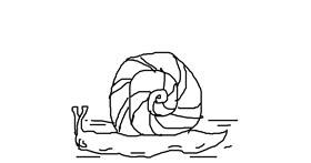 Snail drawing by DakoTaco Animations YT