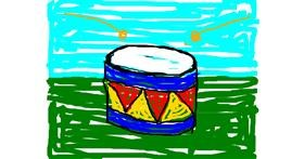Drum drawing by zzz