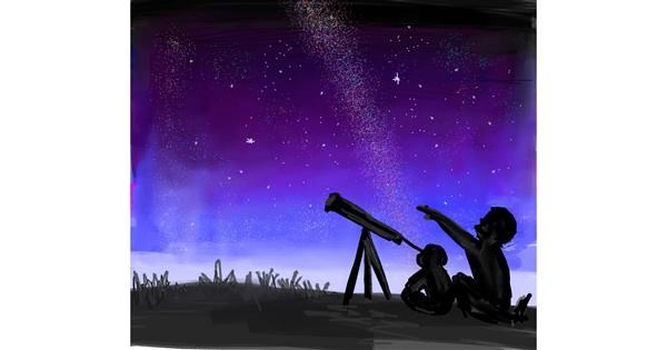 Telescope drawing by Ivek