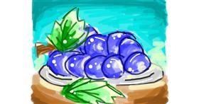 Grapes drawing by Pine