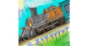 Train drawing by Zeemal