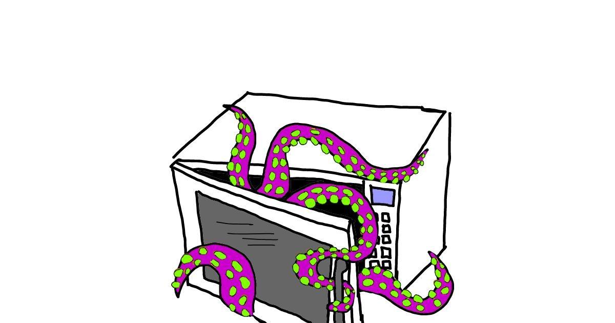 Microwave drawing by Geo-Pebbles
