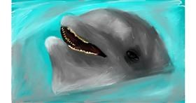 Dolphin drawing by Soaring Sunshine