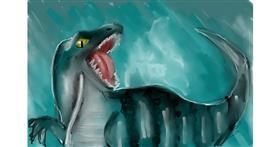Dinosaur drawing by (luna lovegood)